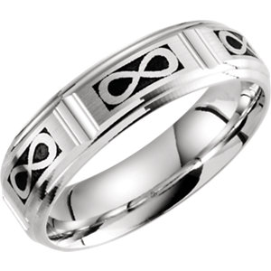 Celtic-Inspired 6mm Infinity Pattern Band