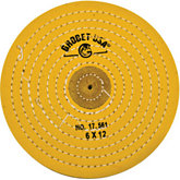 Yellow Treated Muslin Wheel Buff, 6