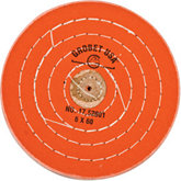 Orange Treated Muslin Buffing Wheel Buff, 6