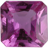 Modified Square Genuine Pink Sapphire (Black Box)