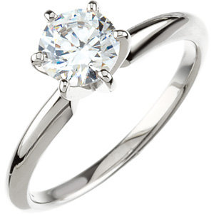 Round 6-Prong Comfort-Fit Solitaire Ring Mounting