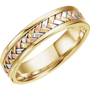 Hand-Woven 5mm Tri-Color Band