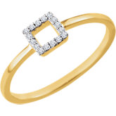 Diamond Square Stackable Ring