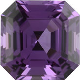 Royal Asscher Genuine Purple Sapphire