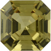 Royal Asscher Genuine Yellow Sapphire