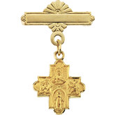 Four Way Medal Baptismal Brooch