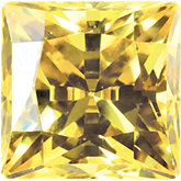 Square SWAROVSKI GEMSTONES™ Lab Created Yellow Cubic Zirconia