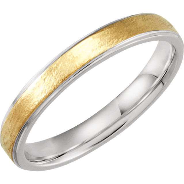 Comfort-Fit Precious Bond® Sterling & Karat Gold Band