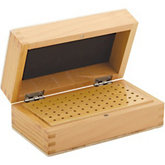 72 Hole Wooden Bur Box w/Lid