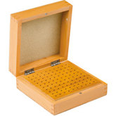 100 Hole Wooden Bur Box w/Lid