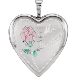 Sterling Silver 20.5x19.25mm Mis Quince Heart Locket