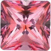 Square SWAROVSKI GEMSTONES™ Genuine Pink Topaz