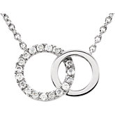 Diamond Interlocking Circle Necklace