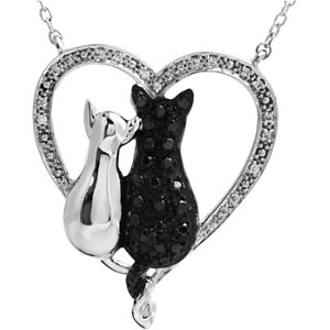 Tender Voices® Cats Heart Necklace