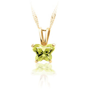 14kt Yellow August<br> Birthstone Pendant