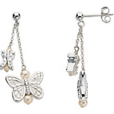 Youth Butterfly Dangle Earrings