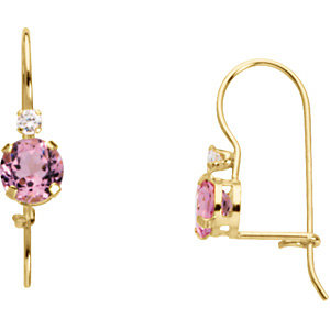Youth Synthetic Birthstone Earrings