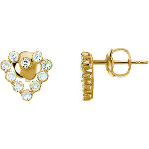 Youth Heart Shape Cubic Zirconia Earrings