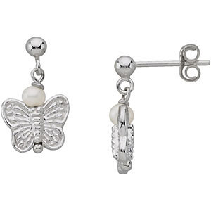 Youth Pearl and Butterfly Earrings