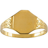 Youth Filigree Signet Ring