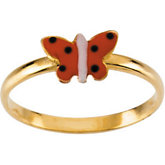Youth Butterfly Enamel Ring
