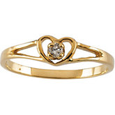 Youth Heart with Diamond Ring