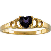 Youth Amethyst Heart Ring