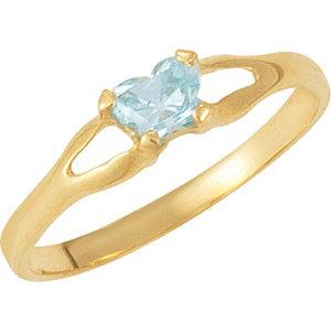 14kt Yellow Bfly® March<br> AZ Birthstone Ring
