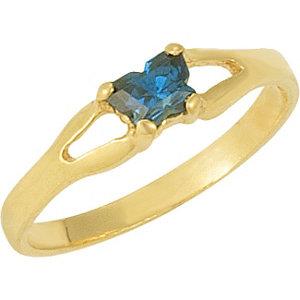 1 kt Yellow Bfly®<br> September AZ Birthstone<br> Ring