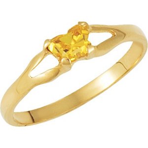 1 kt Yellow Bfly®<br> November AZ Birthstone<br> Ring