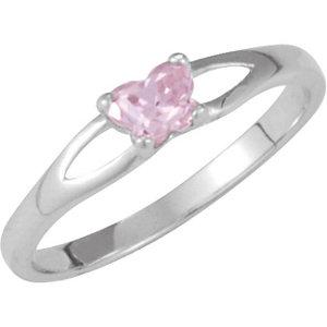 Sterling Silver Bfly® October AZ Birthstone Ring