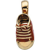 Red Baby Shoe Pendant