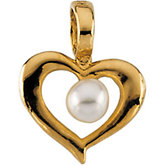 Youth Heart with Pearl Pendant