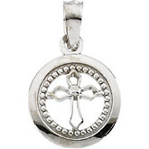 Youth Disc Cross Pendant