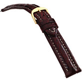18mm Men's Regular Sport Genuine Crocodile Bordeaux Watch Strap