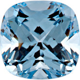 Antique Square Chatham Created Aqua Blue Spinel