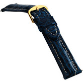 20mm Men's Regular Sport Genuine Crocodile Blue Watch Strap