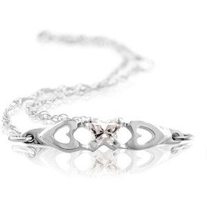 10K White April Birthstone Bracelet