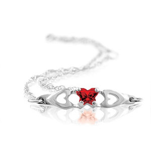 Sterling Silver January Birthstone Bracelet