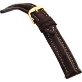 18mm Men's Regular Sport Genuine Crocodile Matte Brown Watch Strap