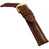 24mm Men's Regular Sport Genuine Crocodile Matte Tan Watch Strap