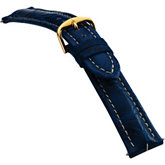 20mm Men's Regular Sport Genuine Crocodile Matte Blue Watch Strap