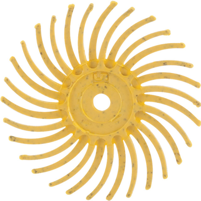 3M® Radial Bristle Yellow Disc 3/4""