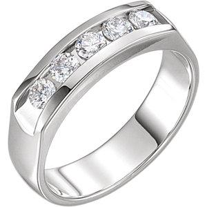 14K White 3/4 CTW Diamond Ring