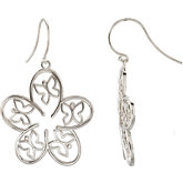 Butterfly Floral Design Earrings