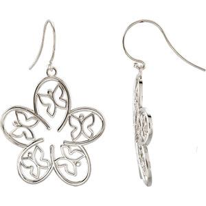 Butterfly Flower Design Earrings