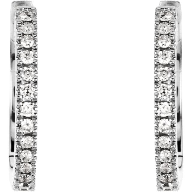Diamond Hoop Earrings for Dangles