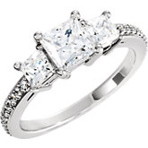 Three-Stone Engagement Ring Mounting