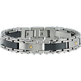Ceramic Couture™ & Stainless Steel Bracelet with 14kt Yellow Screws