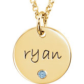 Posh Mommy® Engravable Medium Disc Pendant Mounting